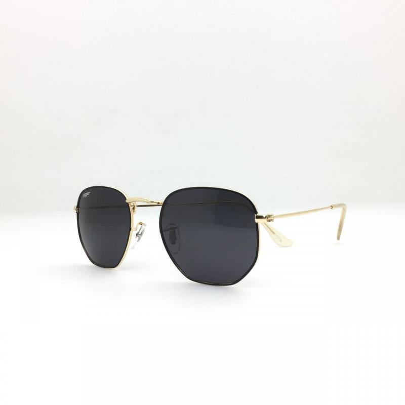 Polarized Premium Quality 100% UV Protected Black Frame Black Shaded Lens Unisex Sunglasses  Aviator (Free Size)