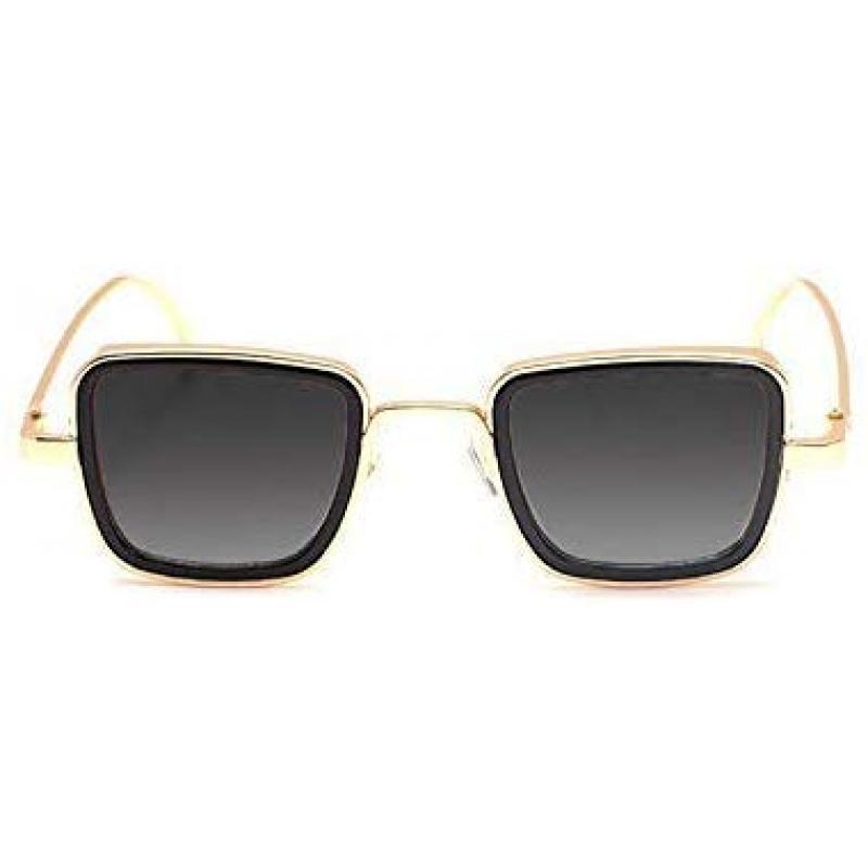 Elegante Metal Body Golden Squarea nd with Black Lenses inspired from Kabir Singh Sunglass for Men and Boys