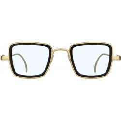 Elegante Metal Body Golden Square and with Transperent Lenses inspired from Kabir Singh Sunglass for Men and Boys